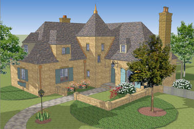 Le Petit Auberge French Country House Plan