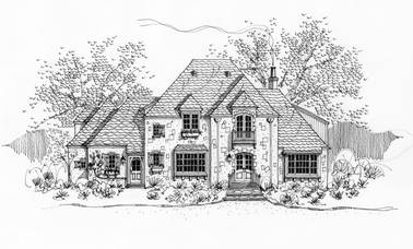 Pavilion de Jardin French Country House Plan