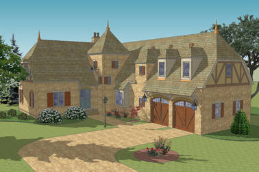 La Metarie French Country House Plan