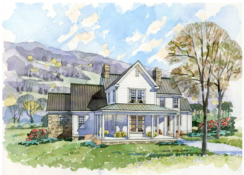 New south classics the homestead portfolio for Farmhouse cottage house plans