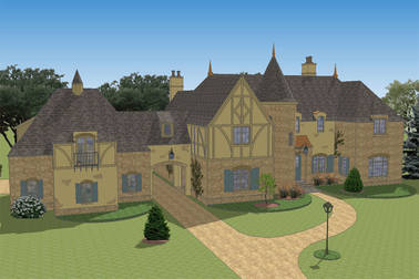 Le Petit Chateau French Country House Plan