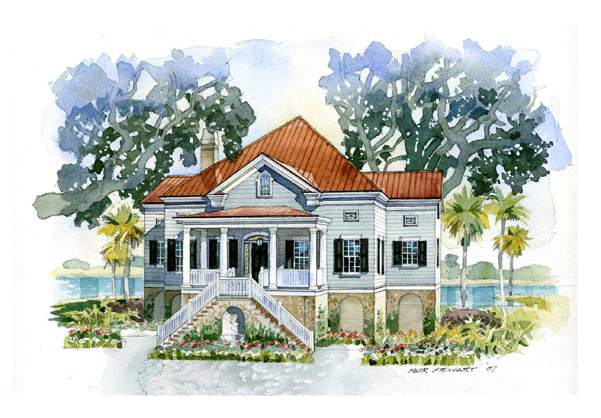 New south classics the seabrook 2 for Southern coastal house plans