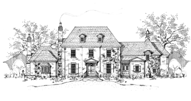 Cotswold Manor English Cottage House Plan