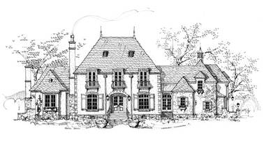 La Maison sur Loire French Country House Plan