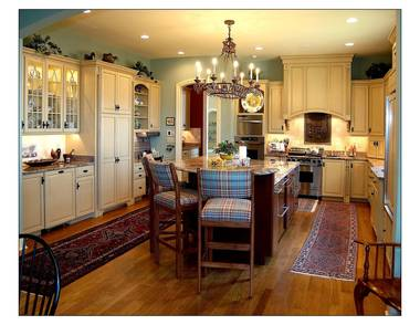 French Country House Kitchen by New South Classics