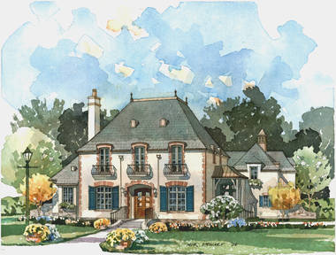 Maison sur Loire French Country House  Plan