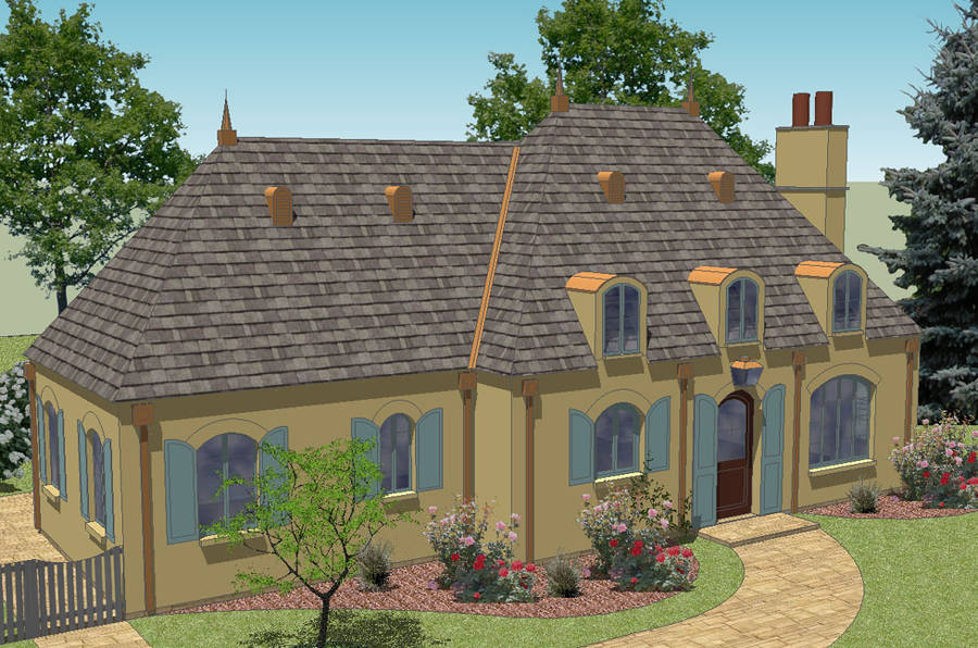House plans french cottage home design and style French cottage homes
