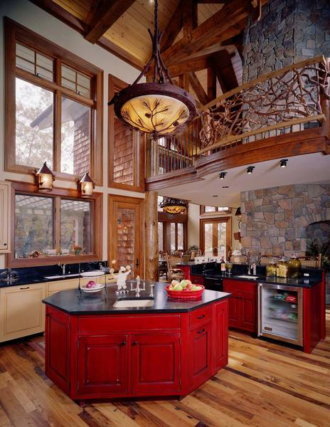 New south classics mountain living classics for Mountain home kitchen design