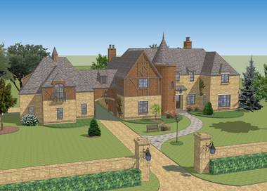 Old Stables English Cottage House Plan