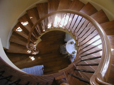 French Country House Stair by New South Classics