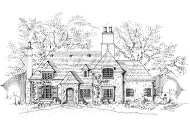 Le Beau Manoir French Country House Plan