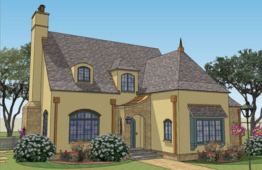 French Country House Plans elevation Make Le Nid Your Nest